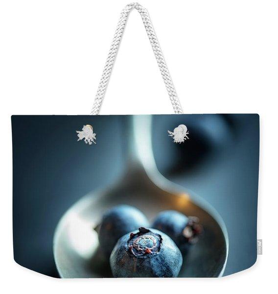 Blueberries Macro Still Life Weekender Tote Bag