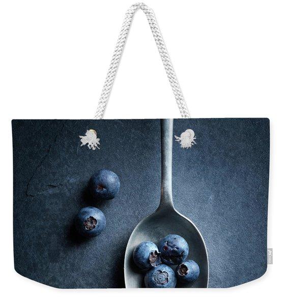 Blueberries On Spoon Still Life Weekender Tote Bag