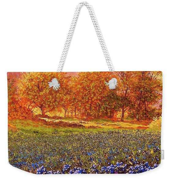Blueberry Fields Weekender Tote Bag