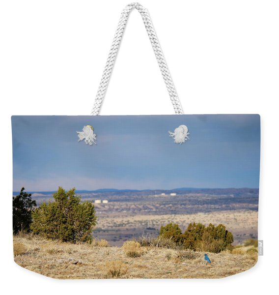 Bluebird Of Happiness On The Mesa Weekender Tote Bag