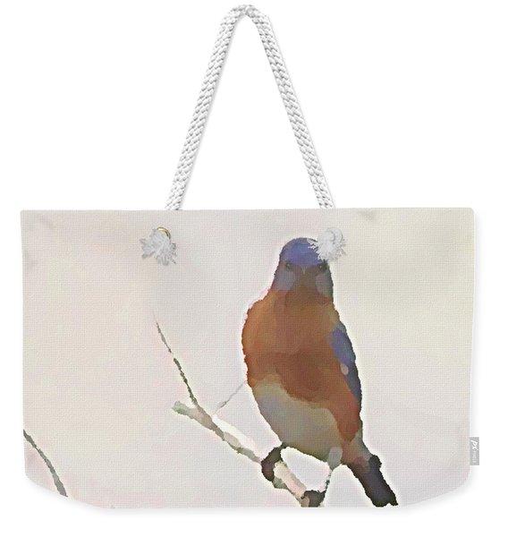 Bluebird Stare  Weekender Tote Bag