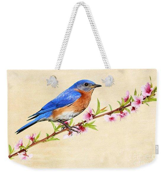 Bluebird's Spring Weekender Tote Bag