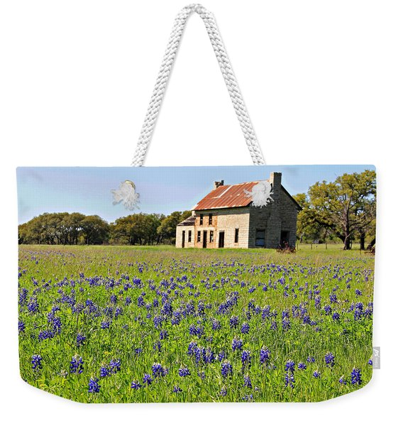 Bluebonnet Field Weekender Tote Bag