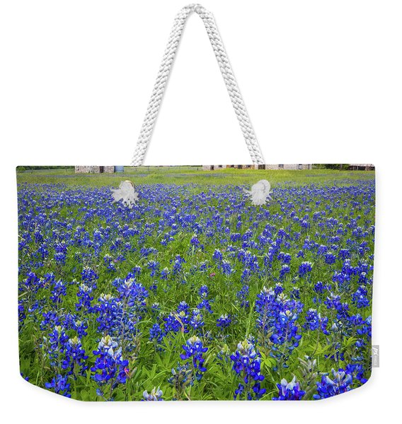 Bluebonnets In Marble Falls Weekender Tote Bag