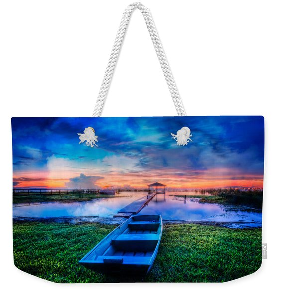 Blues Before Dawn Weekender Tote Bag