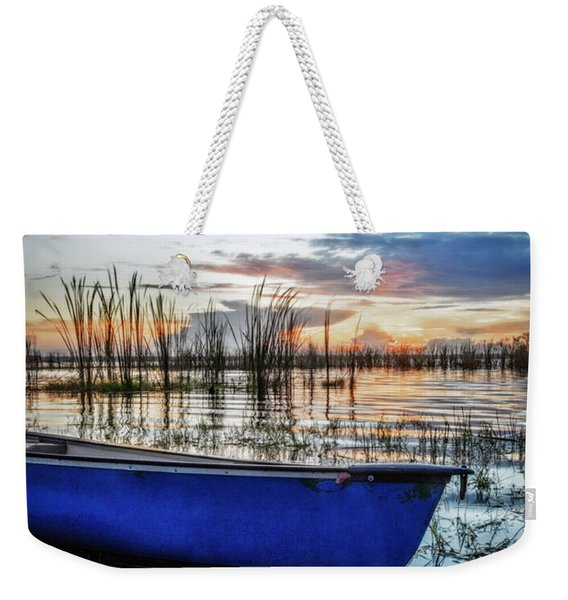 Blues On The Water Weekender Tote Bag