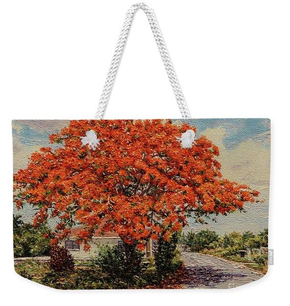Bluff Poinciana Weekender Tote Bag