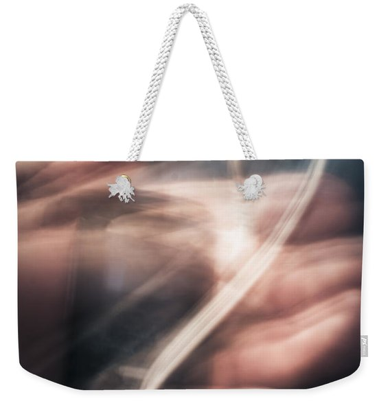 Blurry Human Hand Holding Distorted Music Player Weekender Tote Bag