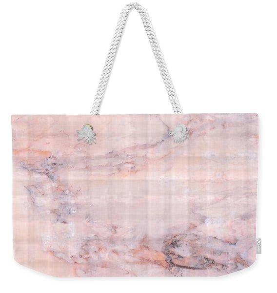 Blush Marble Weekender Tote Bag