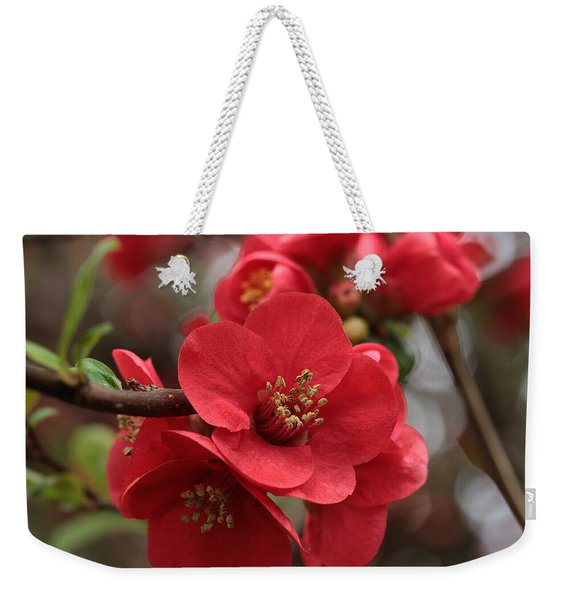 Blushing Blooms Weekender Tote Bag