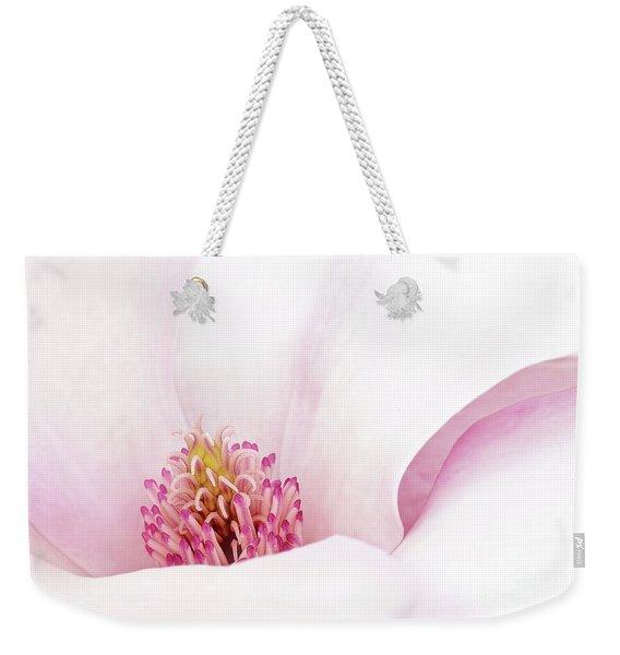 Blushing Magnolia Weekender Tote Bag