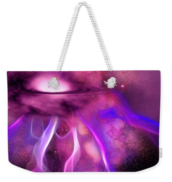 Blushing Nebula Weekender Tote Bag