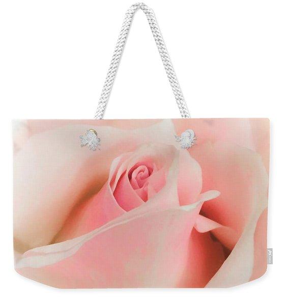 Blushing Petals Weekender Tote Bag