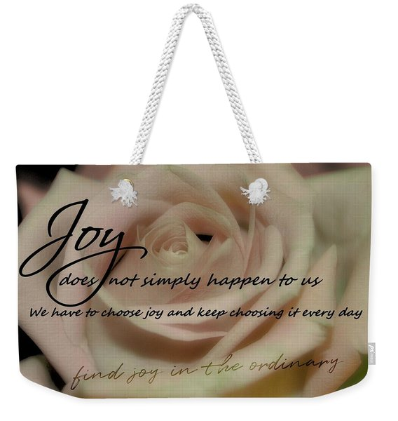 Weekender Tote Bag featuring the photograph Blushing Quote by JAMART Photography