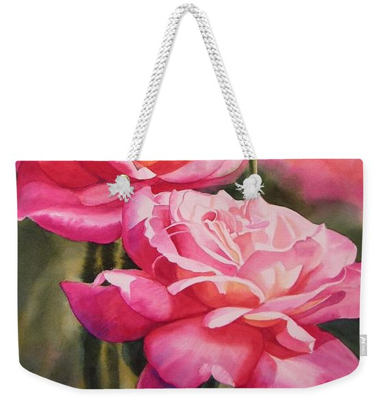 Blushing Roses With Bud Weekender Tote Bag