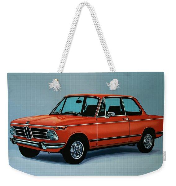 Bmw 2002 1968 Painting Weekender Tote Bag