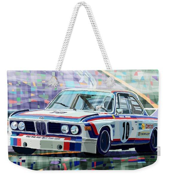 Bmw 3 0 Csl 1st Spa 24hrs 1973 Quester Hezemans Weekender Tote Bag