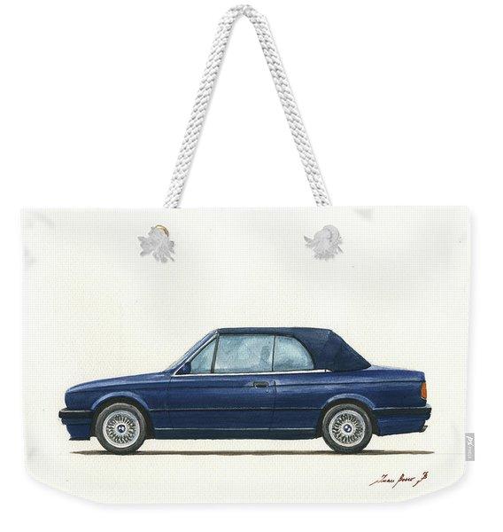 Bmw E30 Cabrio Weekender Tote Bag