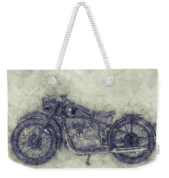 Bmw R32 - 1919 - Motorcycle Poster 1 - Automotive Art Weekender Tote Bag