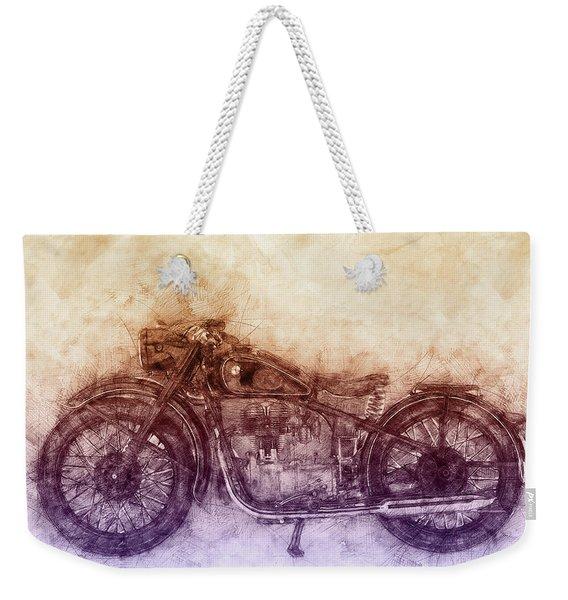 Bmw R32 - 1919 - Motorcycle Poster  2 - Automotive Art Weekender Tote Bag