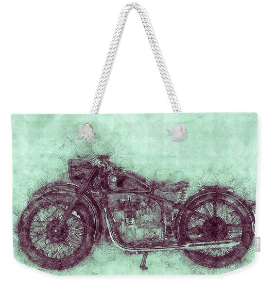 Bmw R32 - 1919 - Motorcycle Poster 3 - Automotive Art Weekender Tote Bag