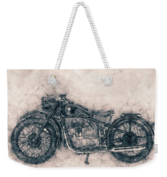 Bmw R32 - 1919 - Motorcycle Poster - Automotive Art Weekender Tote Bag