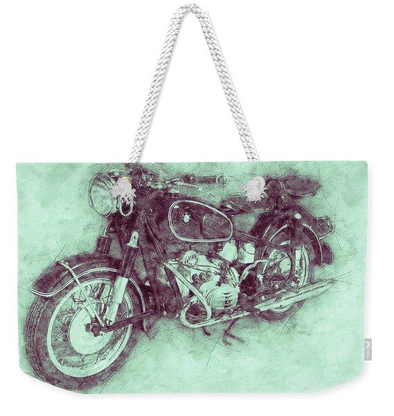Bmw R60/2 - 1956 - Bmw Motorcycles 3 - Vintage Motorcycle Poster - Automotive Art Weekender Tote Bag