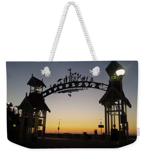 Boardwalk Arch At Dawn Weekender Tote Bag