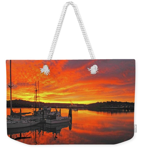 Boardwalk Brilliance With Fish Ring Weekender Tote Bag