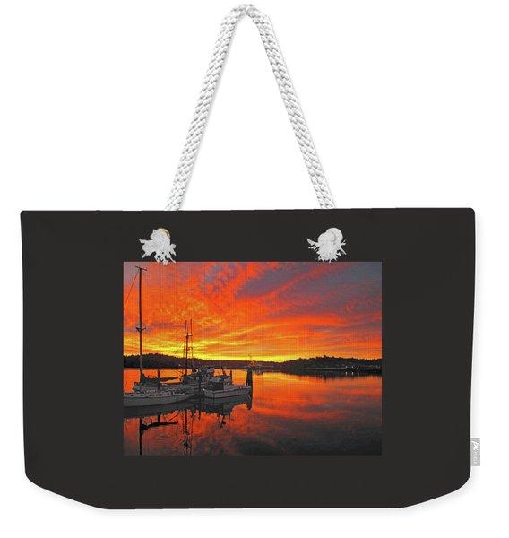 Boardwalk Brilliance With Fish Ring Weekender Tote Bag