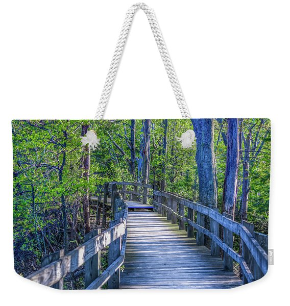 Boardwalk Going Into The Woods Weekender Tote Bag