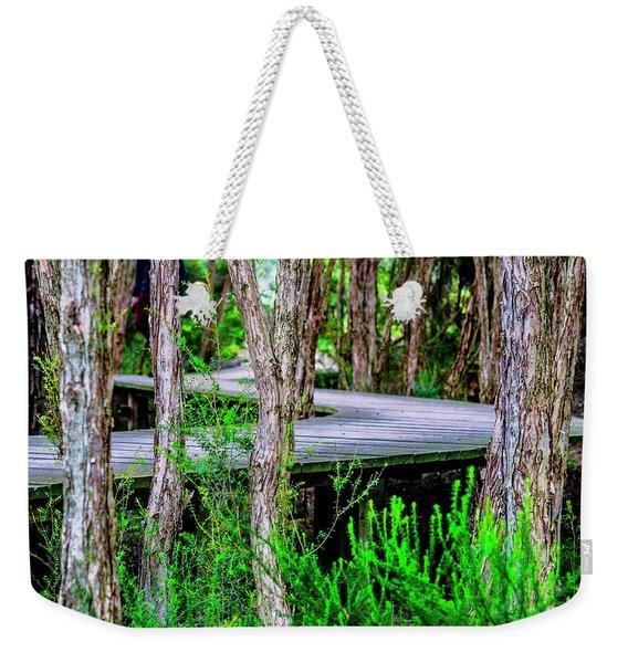 Boardwalk In The Woods Weekender Tote Bag