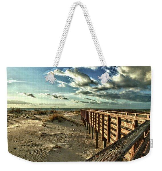 Boardwalk On The Beach Weekender Tote Bag