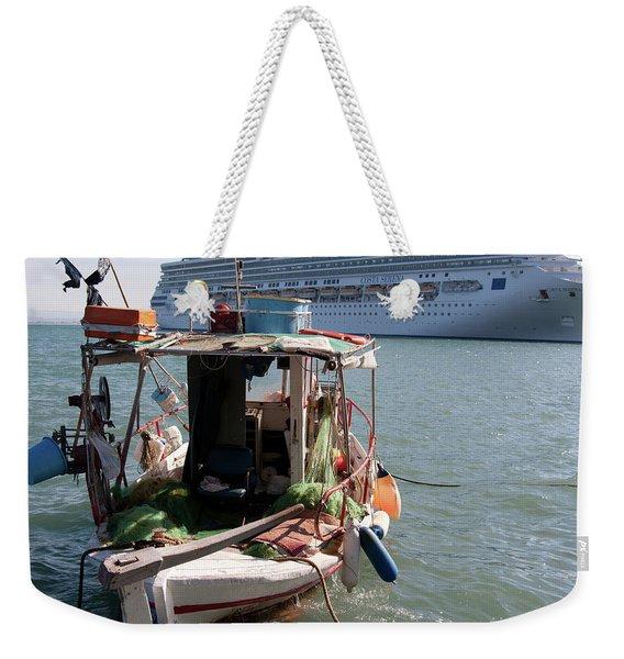 Boat And Ship Weekender Tote Bag