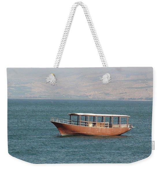 Boat On Sea Of Galilee Weekender Tote Bag