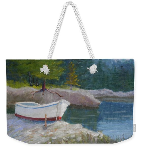 Boat On Tidal River Weekender Tote Bag