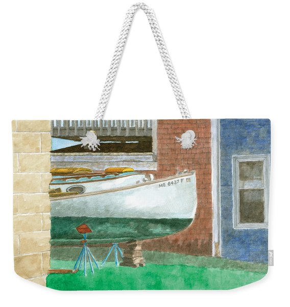 Boat Out Of Water - Portland Maine Weekender Tote Bag