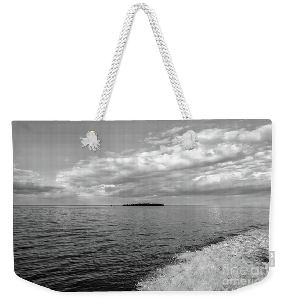 Boat Wake On Florida Bay Weekender Tote Bag