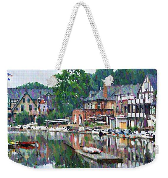 Boathouse Row In Philadelphia Weekender Tote Bag