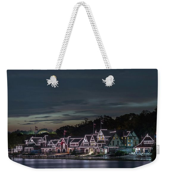 Boathouse Row Philly Pa Night Weekender Tote Bag