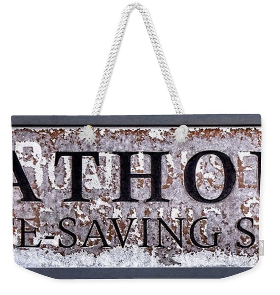 Boathouse Sign Weekender Tote Bag