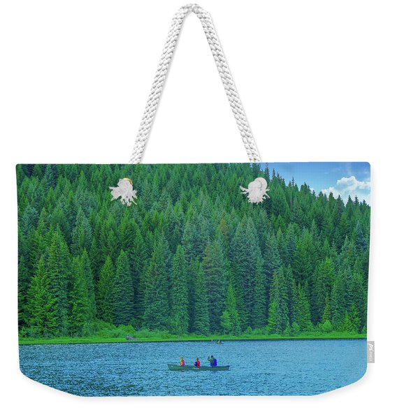 Boating On Trillium Lake Weekender Tote Bag
