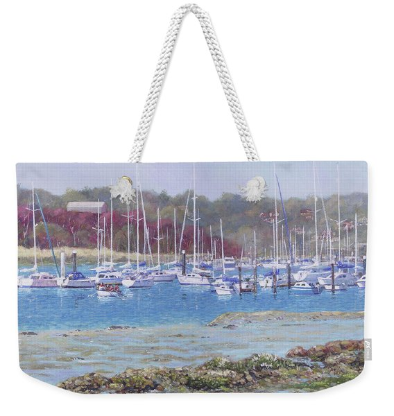 Boats At Hamble Marina Weekender Tote Bag