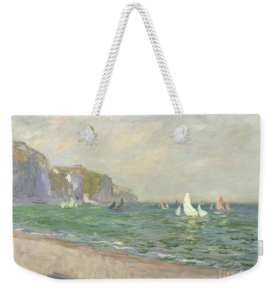 Boats Below The Cliffs At Pourville Weekender Tote Bag