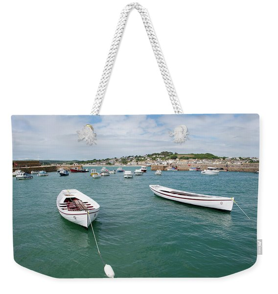 Boats In Habour Weekender Tote Bag
