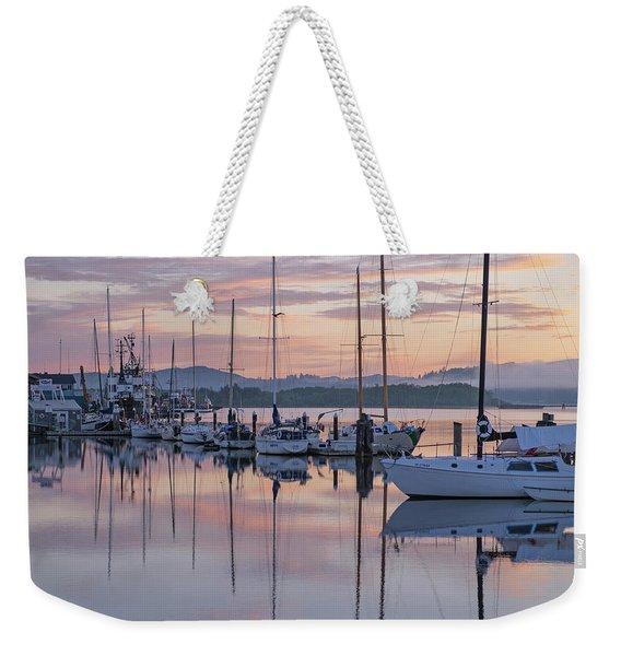 Boats In Pastel Weekender Tote Bag