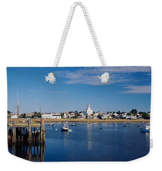 Boats In The Sea, Provincetown, Cape Weekender Tote Bag