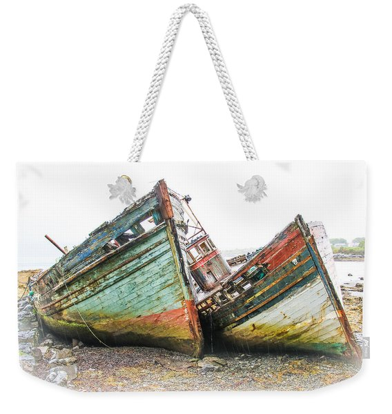 Boats Isle Of Mull 4 Weekender Tote Bag