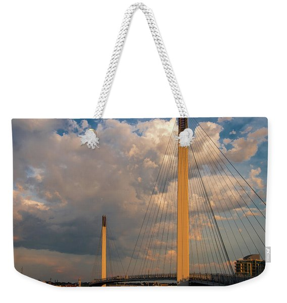 Bob Kerry Bridge At Sunrise-3 Weekender Tote Bag