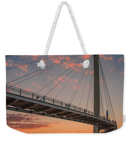 Bob Kerry Bridge At Sunrise-4 Weekender Tote Bag
